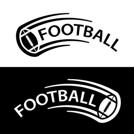 American football ball motion line symbol vector.