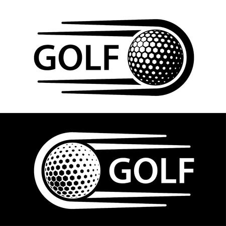 Golf ball motion line symbol vector.