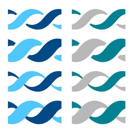 DNA simple seamless icon symbol vector