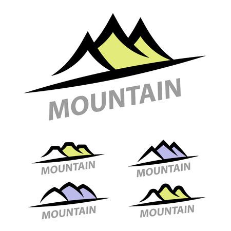 Mountain hill simple symbol vector
