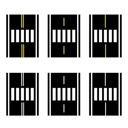 Crosswalk on the road simple symbol vector