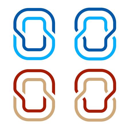 Letter O number 0 zero icon symbol vector Ilustração
