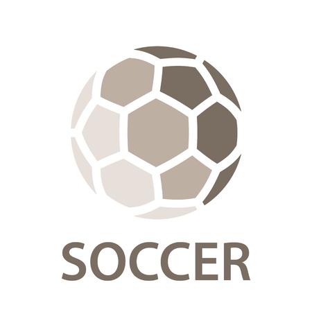 Soccer ball brown icon symbol vector
