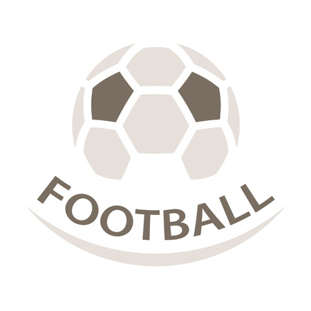soccer goal: Football ball brown icon symbol vector