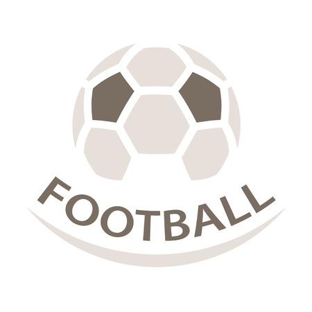 Football ball brown icon symbol vector