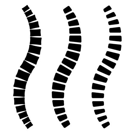Human spine simple silhouettes vector Ilustração