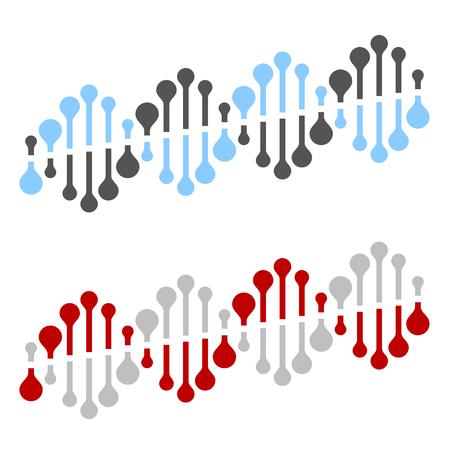 Abstract DNA strand symbol vector illustration.