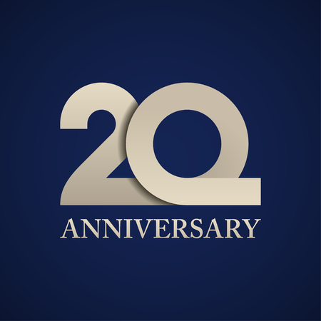 20 years anniversary paper number vector