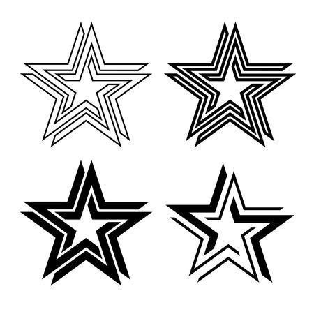 A black star symbol infinite loop vector illustration.