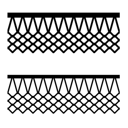 A basketball basket net seamless pattern vector illustration. Ilustracja
