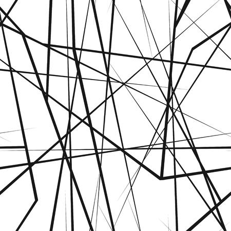 A chaotic random lines seamless texture vector illustration. Ilustração