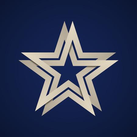 A paper star infinite loop vector illustration.