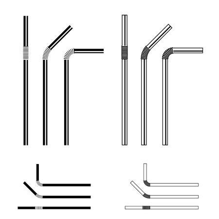 A drinking straw black symbol vector illustration.