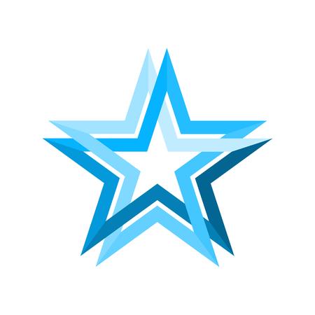 A blue star infinite loop vector illustration. Ilustração