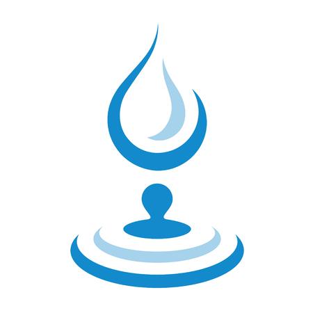 falling water drop circle wave simple symbol vector