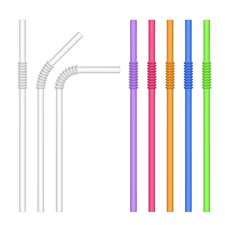 colorful drinking straw vector