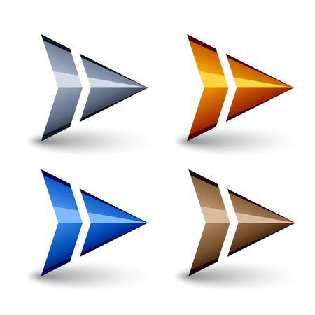abstract triangular arrow symbol vector Banco de Imagens - 85310313