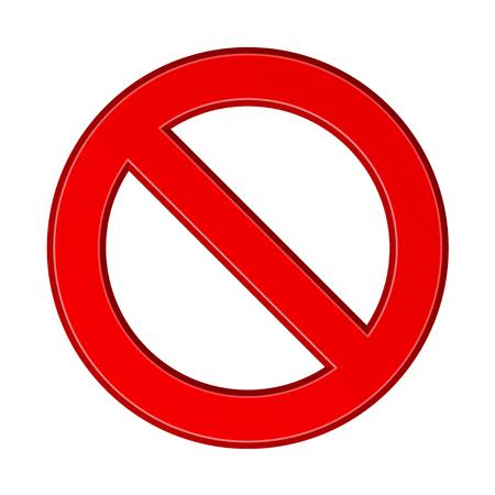 red blank ban sign vector Banco de Imagens - 85310317