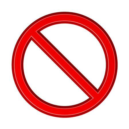 Red blank ban sign Ilustração