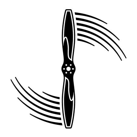 Airplane propeller motion