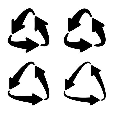 Recycle triangular arrow symbol Ilustração