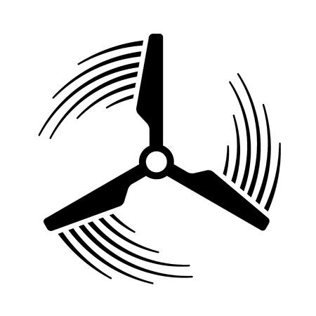 Wind power plant propeller motion Ilustração