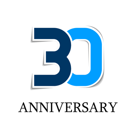 30 anniversary sticker number icon Ilustração
