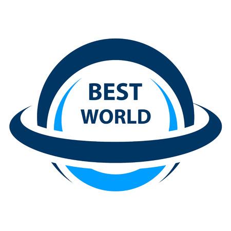 Best world globe icon Banco de Imagens - 86991631