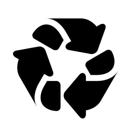 Recycle black simple symbol. Banco de Imagens - 88783566