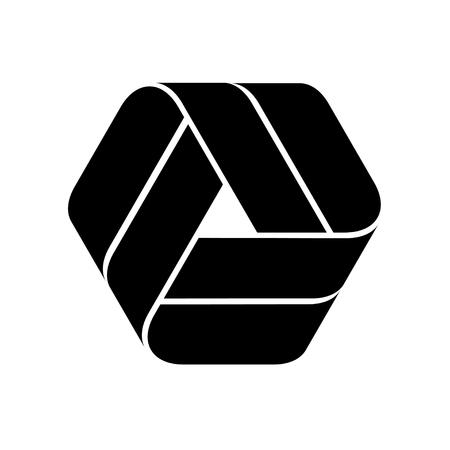 Endless ribbon black symbol. Ilustração