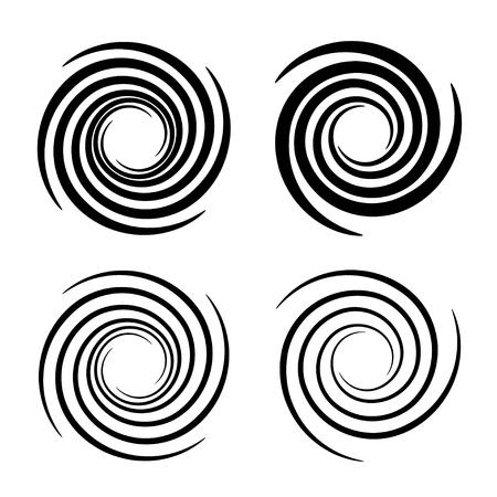 tourbillon circulaire tourbillon symboles de la fumée noire
