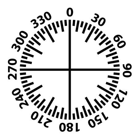 Protractor simple black scale.