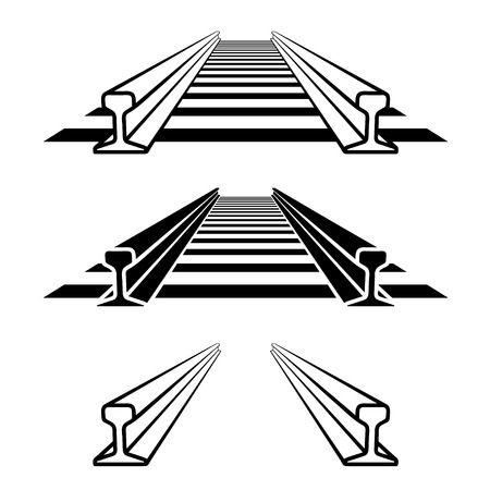 Steel train rail track profile symbol. Banco de Imagens - 88783572
