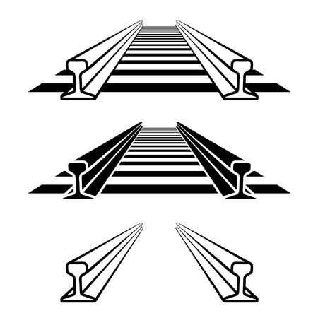Steel train rail track profile symbol.