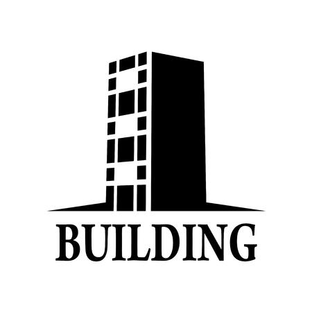 abstract building minimal simple symbol vector Ilustração