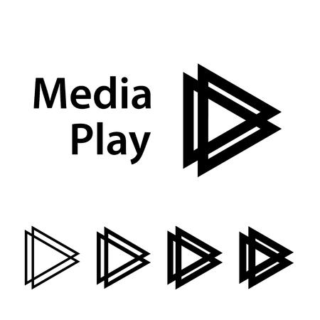 Media play black symbol. Ilustração