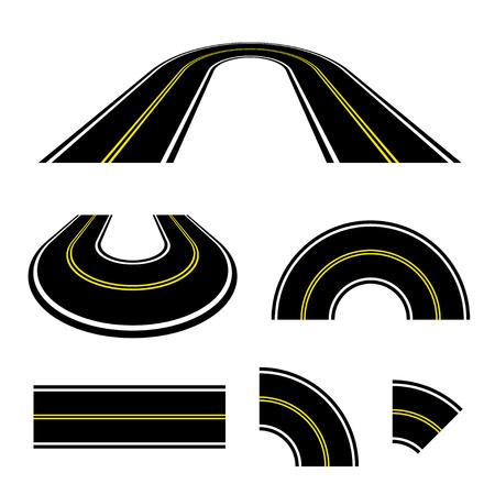 Perspective road turn illustration. Ilustração