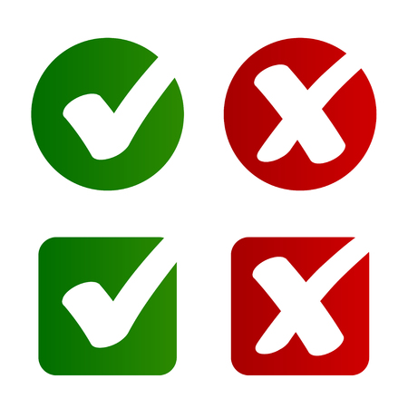 Check mark approved rejected symbol vector - illustration