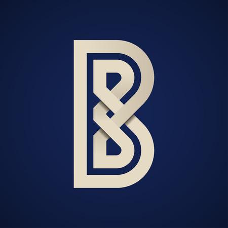 Paper B simple letter symbol vector - illustration