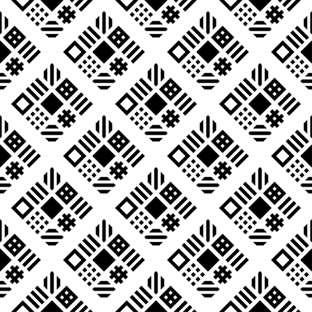 Squares pattern geometric seamless background vector - illustration