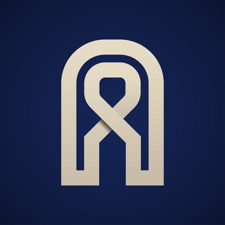 Paper A simple letter symbol vector - illustration