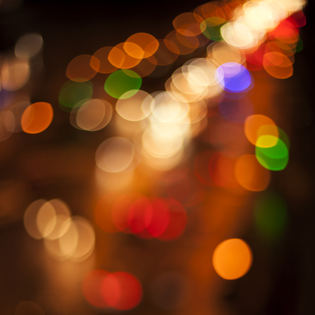 Blurred Defocused Multi Color Lights City Stock Photo