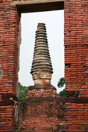 ayuthaya: Pagoda ruin at Ayuthaya, Thailand.