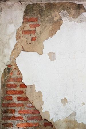 crack of brick wall photo