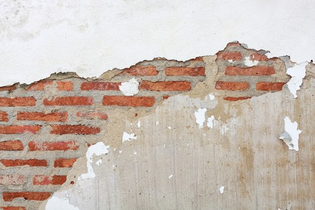 crack of brick wall Stock Photo