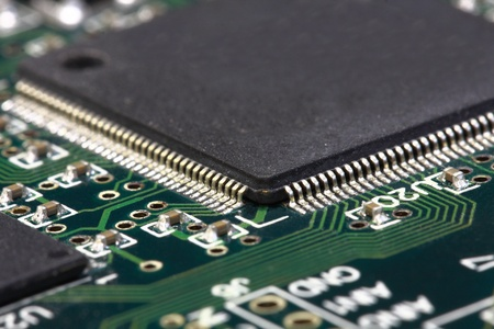 Print circuit board with component Stock Photo - 8370213