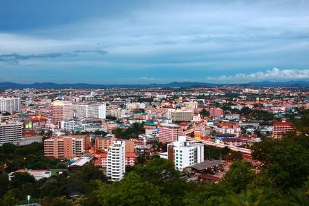 bird eye view of Pattaya city Thailand photo