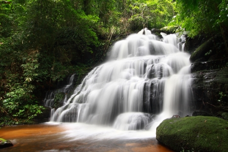 Man Daeng Waterfall, Phu Hin Rong Kla; National Park at Phitsanulok, Thailand photo