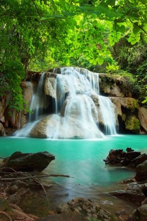huay: Huay mae kamin waterfall in Kanchanaburi, Thailand