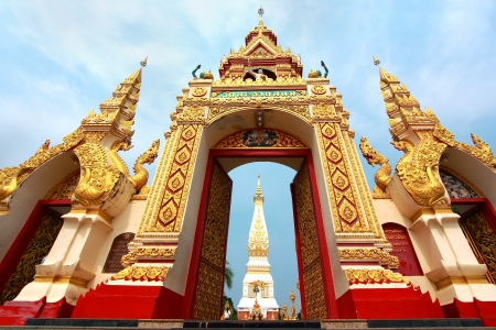 Wat Phra That Phanom at Nakorn-pranom provience, Thailand Stock Photo